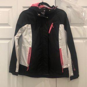 Hooded light rain jacket